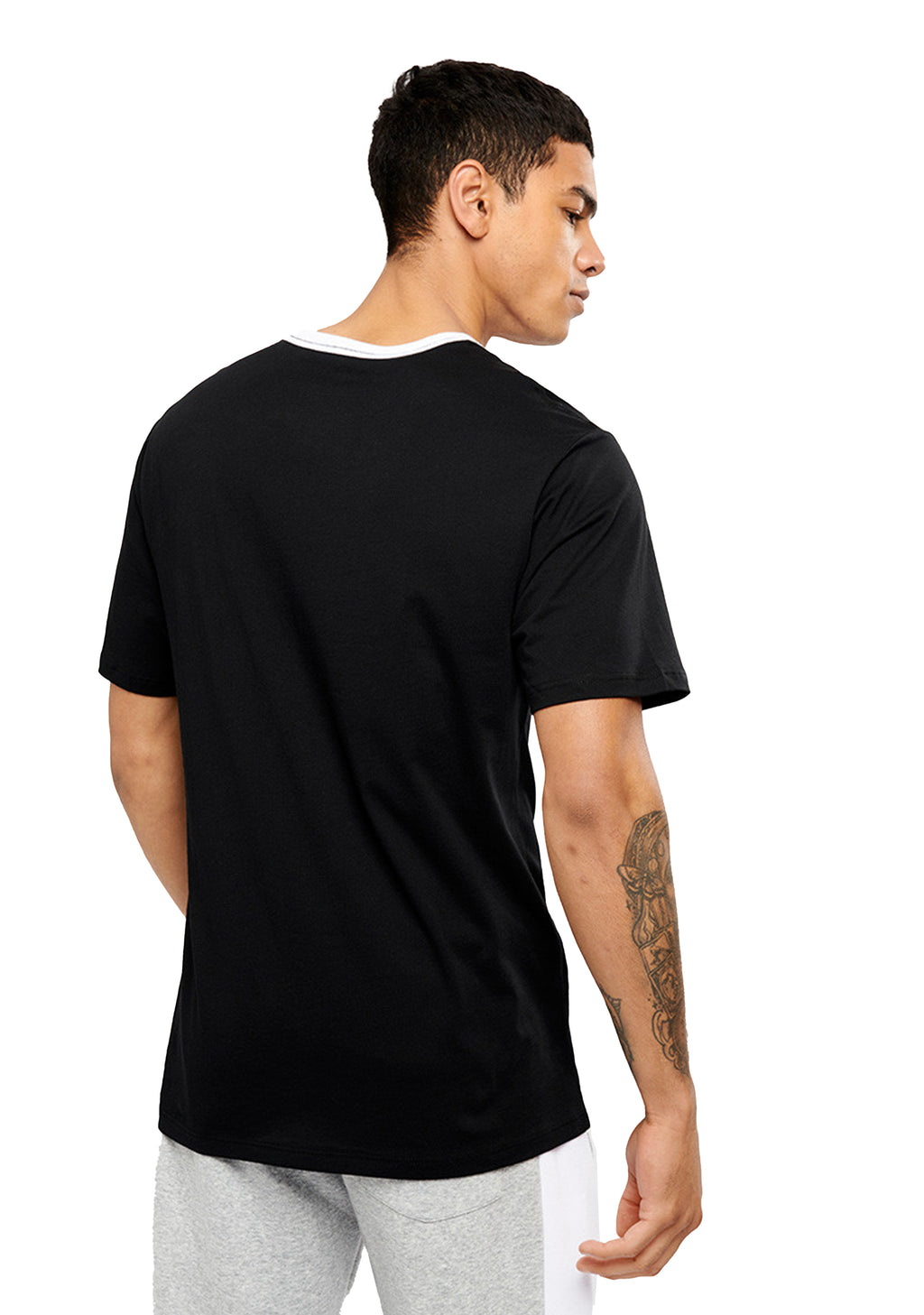 CHAMPION MENS SCRIPT RINGER PANEL TEE <br> AWVVN
