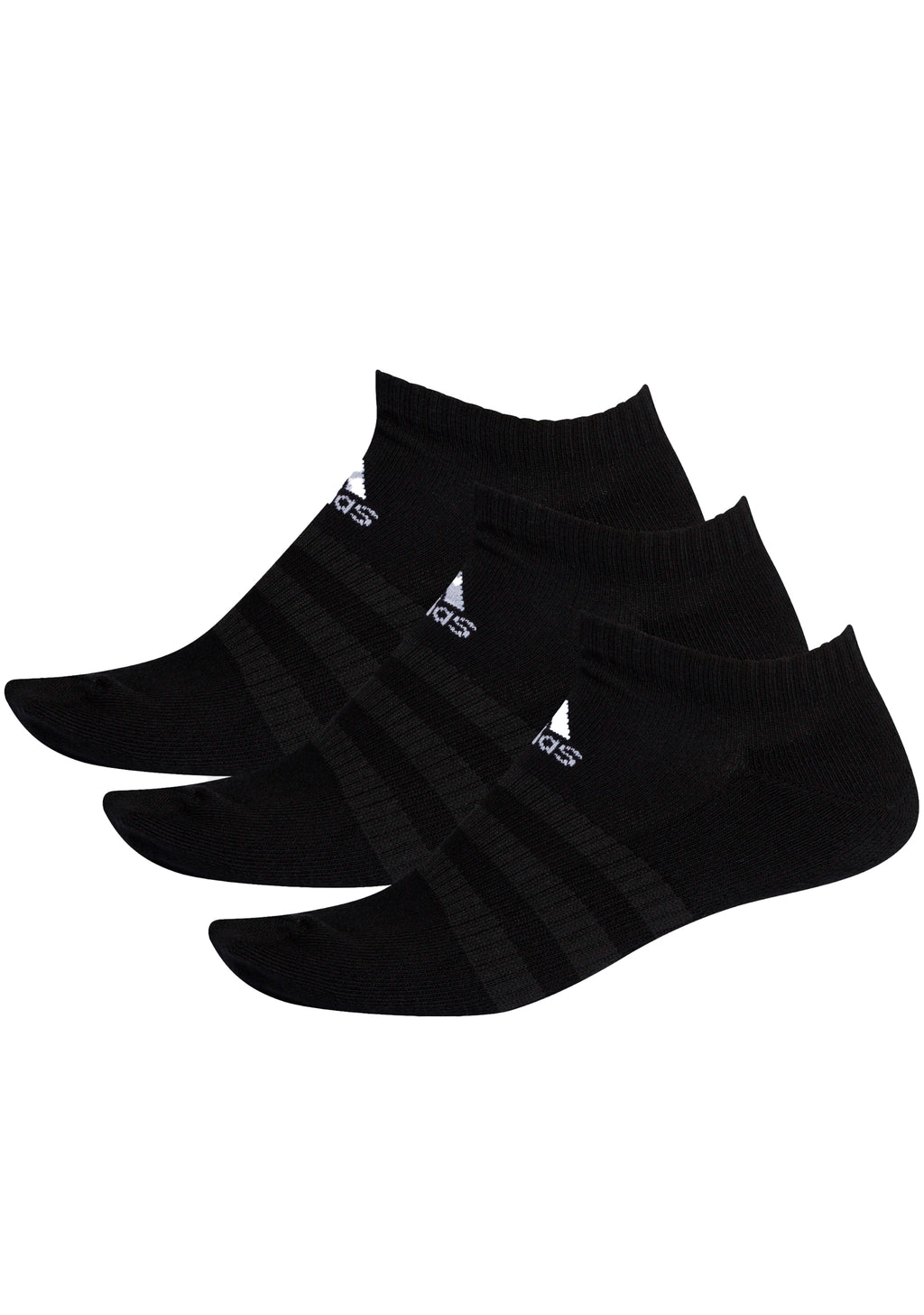 ADIDAS CUSHIONED LOW-CUT 3 PACK BLACK <br> DZ9385