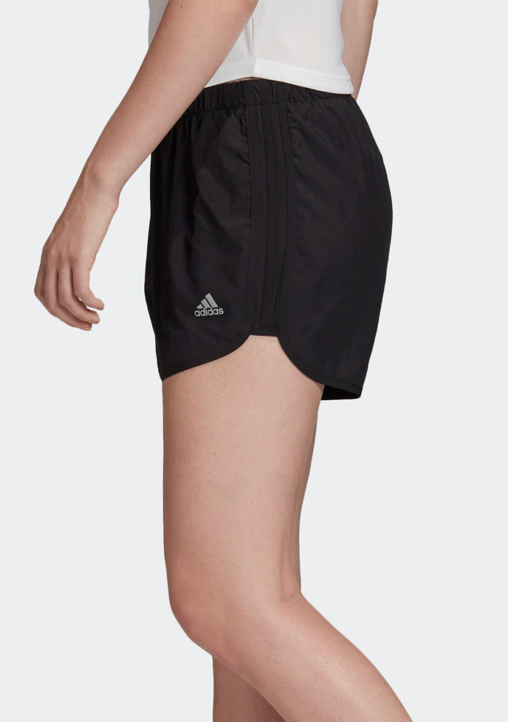 ADIDAS WOMENS MARATHON 20 SHORTS BLACK <BR> DZ2282