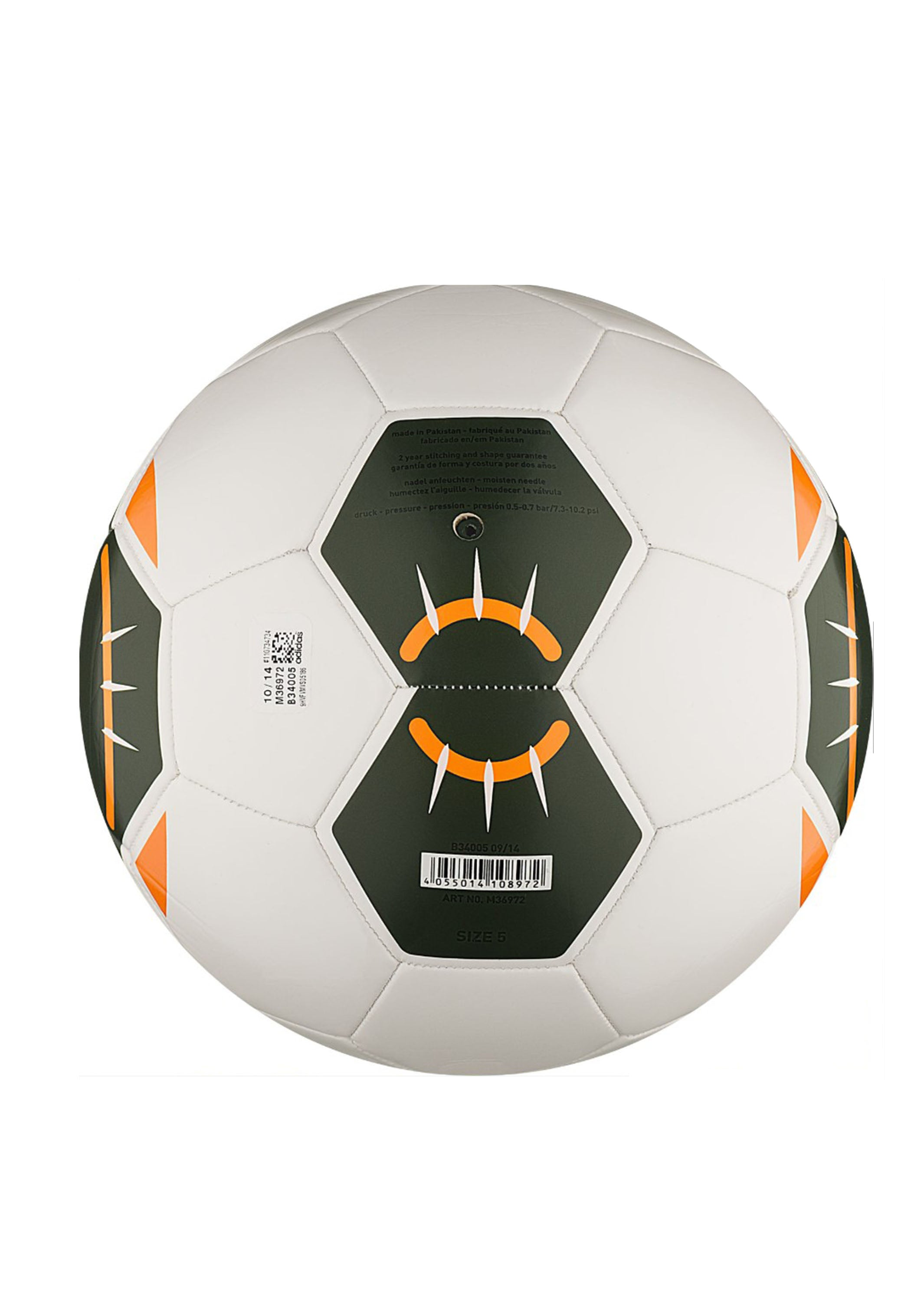 ADIDAS STARLANCER SOCCER BALL WITH FREE SOCCEROOS SCARF M36972