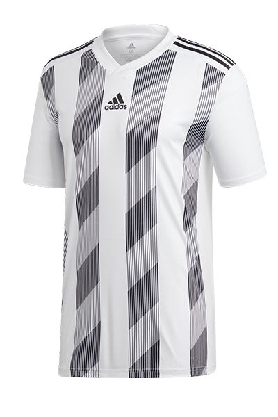 ADIDAS STRIPED 19 JERSEY JUNIOR WHITE/BLACK <br> DP3202