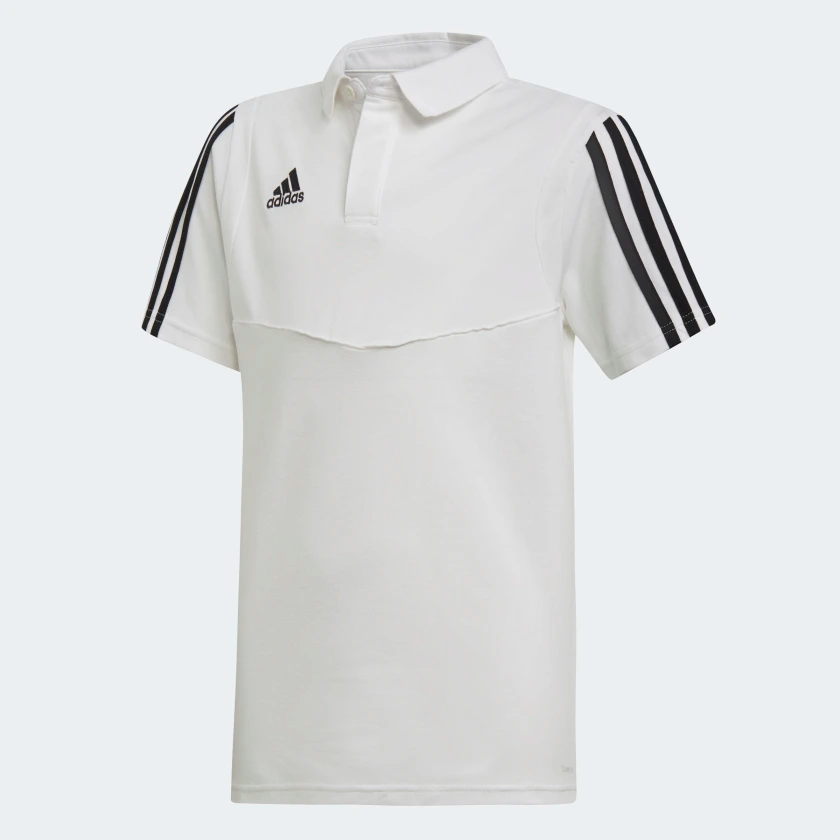 ADIDAS TIRO 19 JUNIOR POLO WHITE <br> DU0866