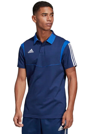 ADIDAS TIRO 19 COTTON POLO MENS DARK BLUE <br> DU0868