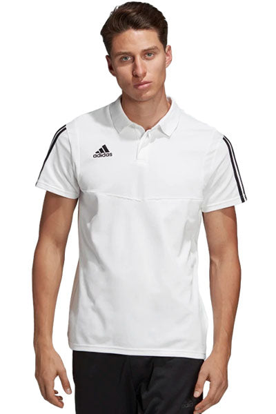 ADIDAS TIRO 19 COTTON POLO MENS WHITE <br> DU0870