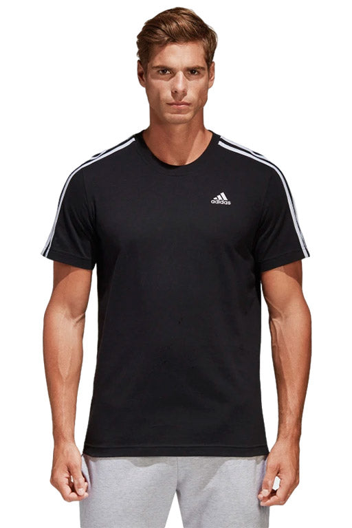 ADIDAS ESSENTIALS CLASSIC 3 STRIPES TEE MENS WITH FREE 1L WATER BOTTLE <br> S98717