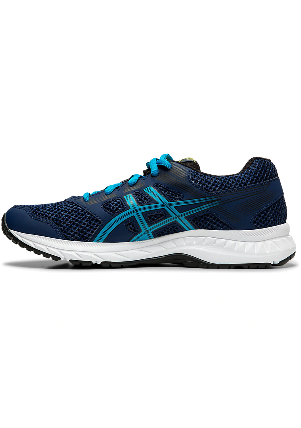 ASICS JUNIOR GEL CONTEND 5 GS WITH FREE AQUA SLIDES <BR> 1014A049 404