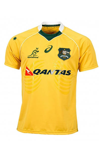 ASICS WALLABIES REPLICA JERSEY MENS WITH FREE CAP <br> WRMJ1601 1016