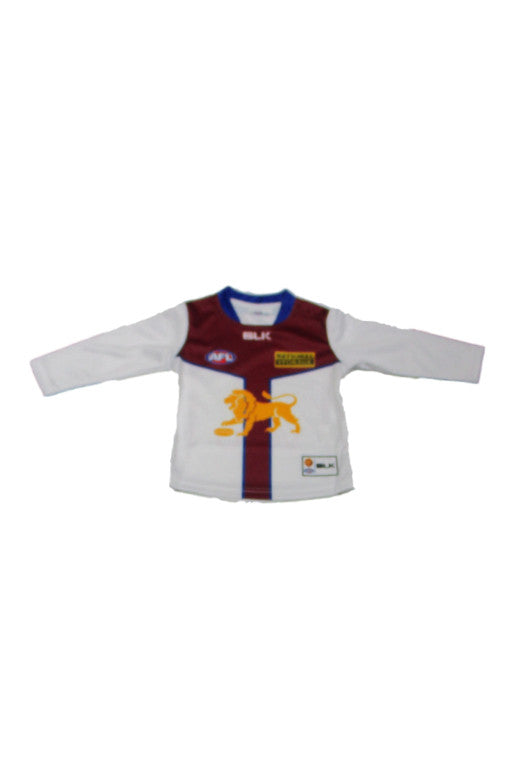 BLK BRISBANE LIONS CLASH GUERNSEY TODDLER <br> BLJR345WHT,- Jim Kidd Sports