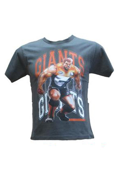 BLK GREATER WESTERN SYDNEY GIANTS GRANGE WALLIS GRAPHIC TEE JUNIOR <br> GWTE105GNM,- Jim Kidd Sports