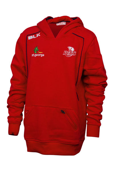 BLK QUEENSLAND REDS 2015 PULLOVER HOODIE JUNIOR <br> QRFL321RED