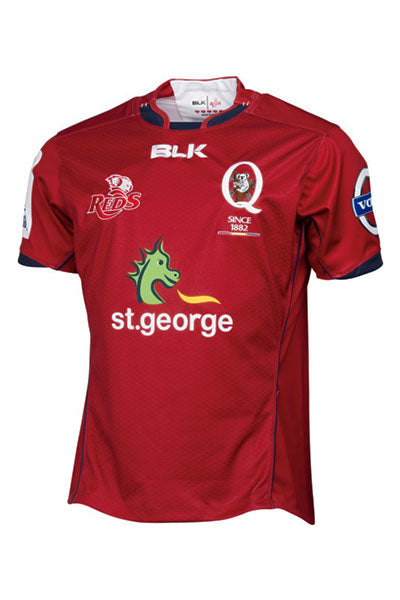 BLK QUEENSLAND REDS 2015 HOME JERSEY JUNIOR <br> QRJR326RED
