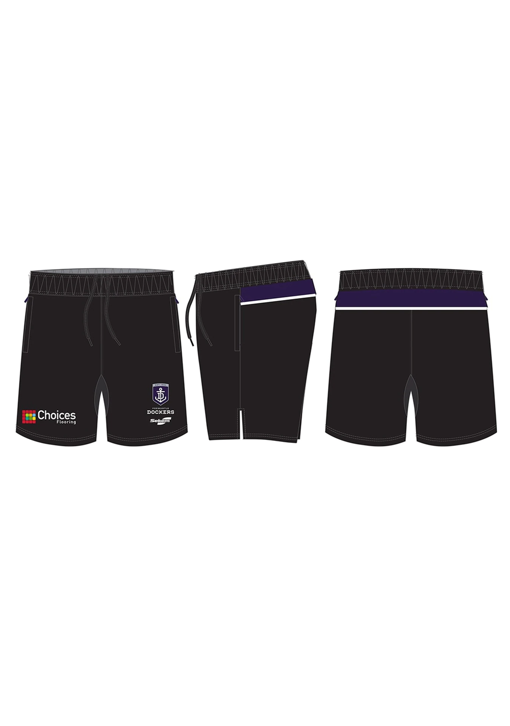 BURLEY SEKEM MENS FREMANTLE DOCKERS CLUB TRAINING SHORTS