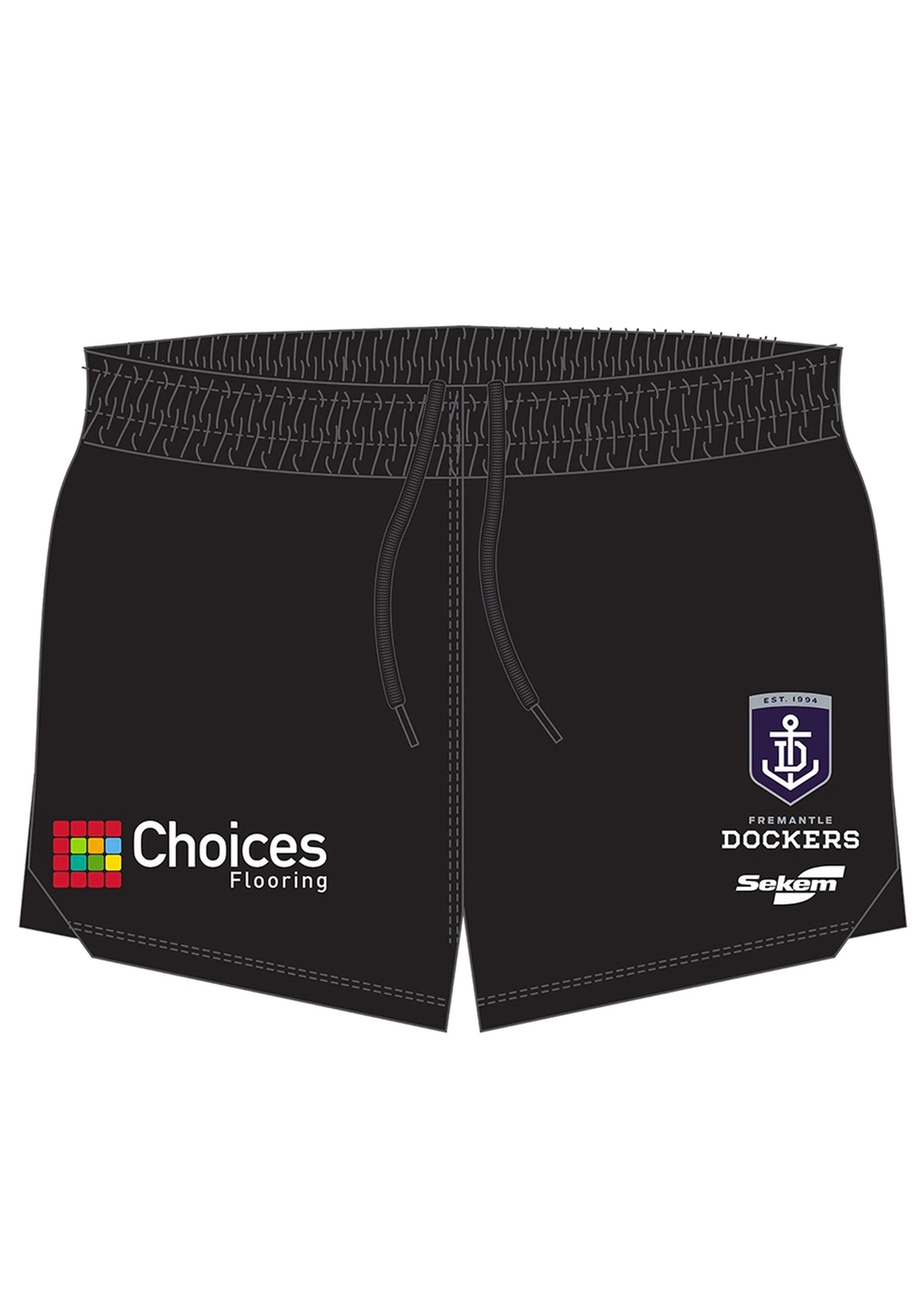 BURLEY SEKEM MENS FREMANTLE DOCKERS PLAYER RUNNING SHORTS