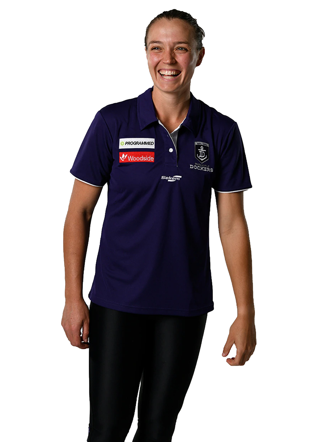 BURLEY SEKEM WOMENS FREMANTLE DOCKERS PLAYER POLO SHIRT