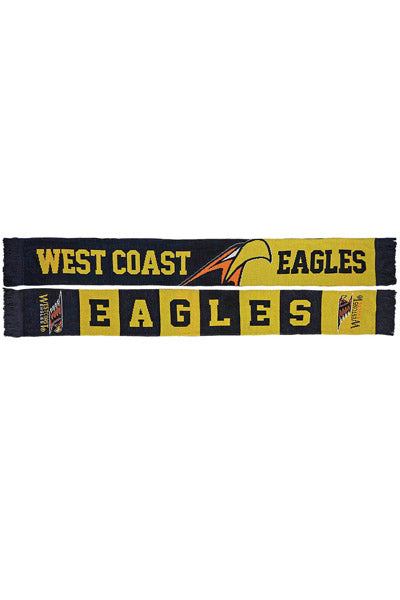 BURLEY SEKEM WEST COAST EAGLES BANNER JACQUARD SCARF SCJ3WC