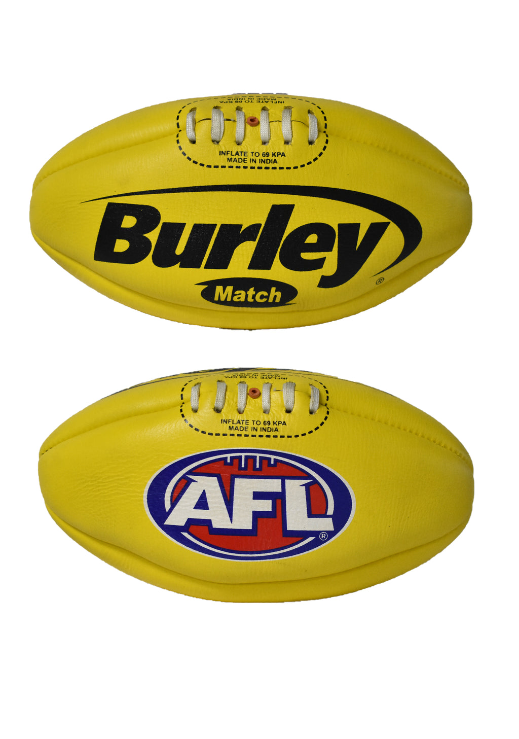 BURLEY YELLOW MATCH FOOTBALL