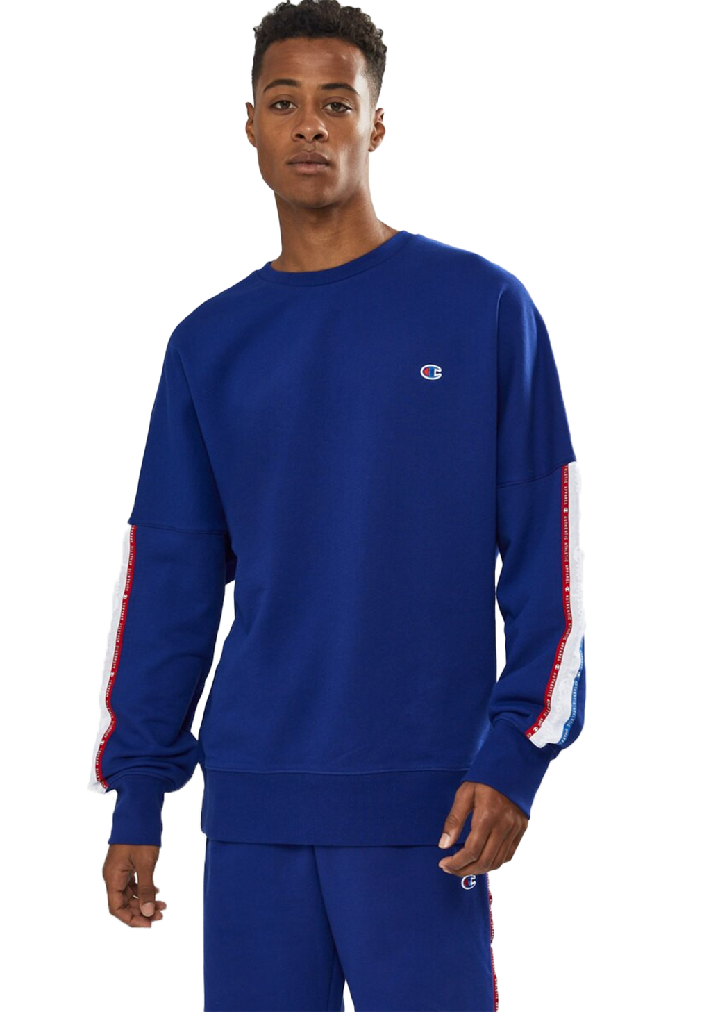 CHAMPION MENS ID COLLECTION TAPE CREW <BR> AXBPN EQF