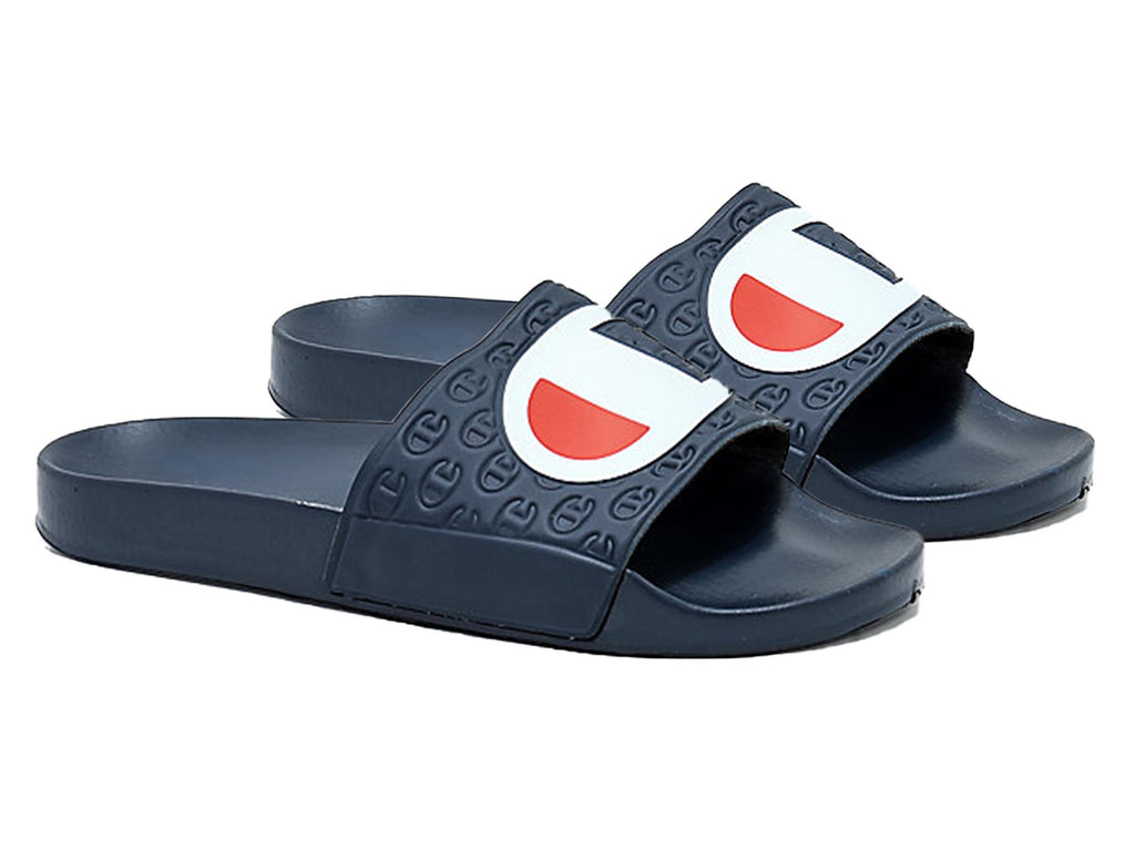CHAMPION JUNIOR MULTI-LIDO SLIDES (NAVY) <BR> AXYGN