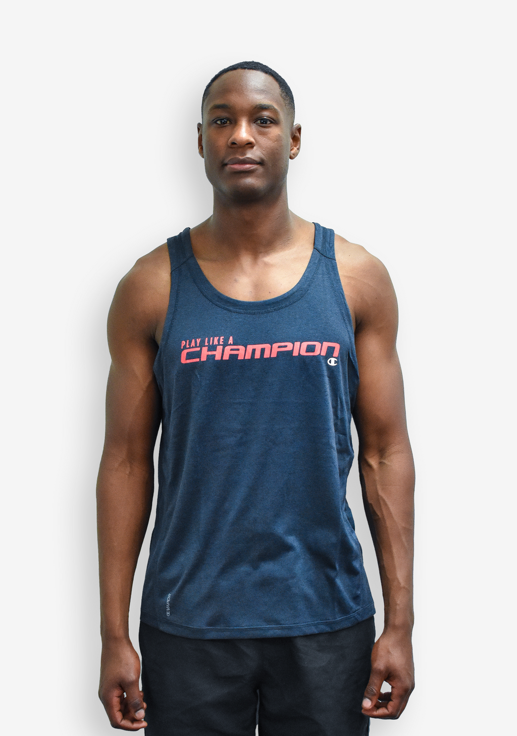 CHAMPION MENS GRAPHIC HEATHER TANK  <br> MG478