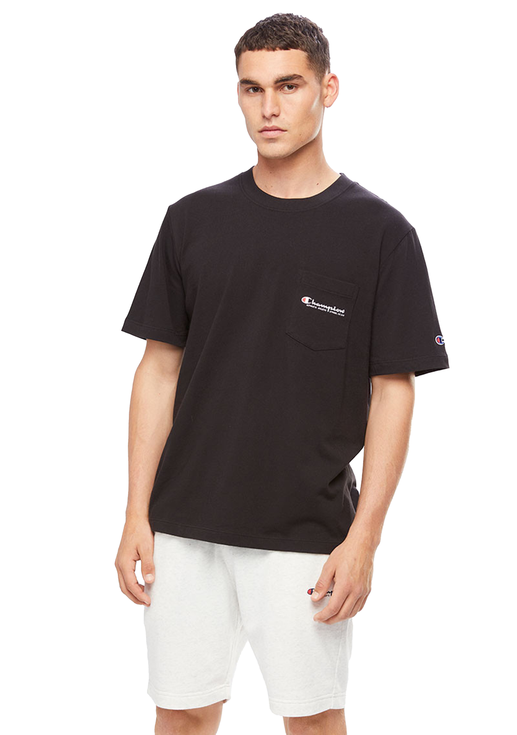 CHAMPION MENS JERSEY TEE <br> AWNCN BLK
