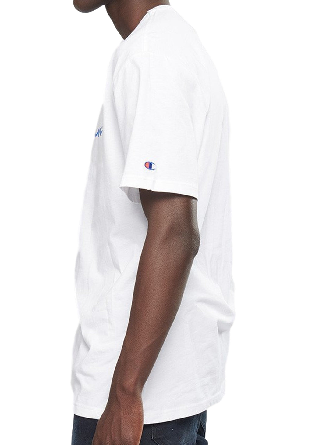 CHAMPION SCRIPT SHORT SLEEVE TEE MENS WHITE <BR>AXQPN WHITE