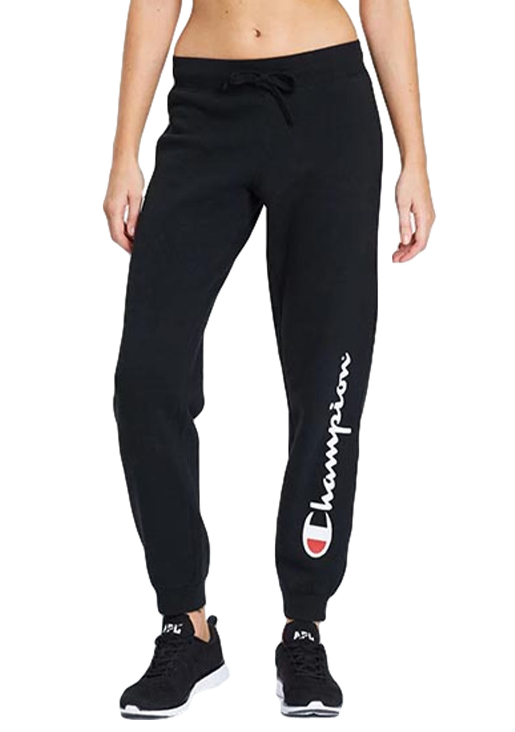 CHAMPION SCRIPT CUFF PANT WOMENS BLACK <br> CWFVN BLK