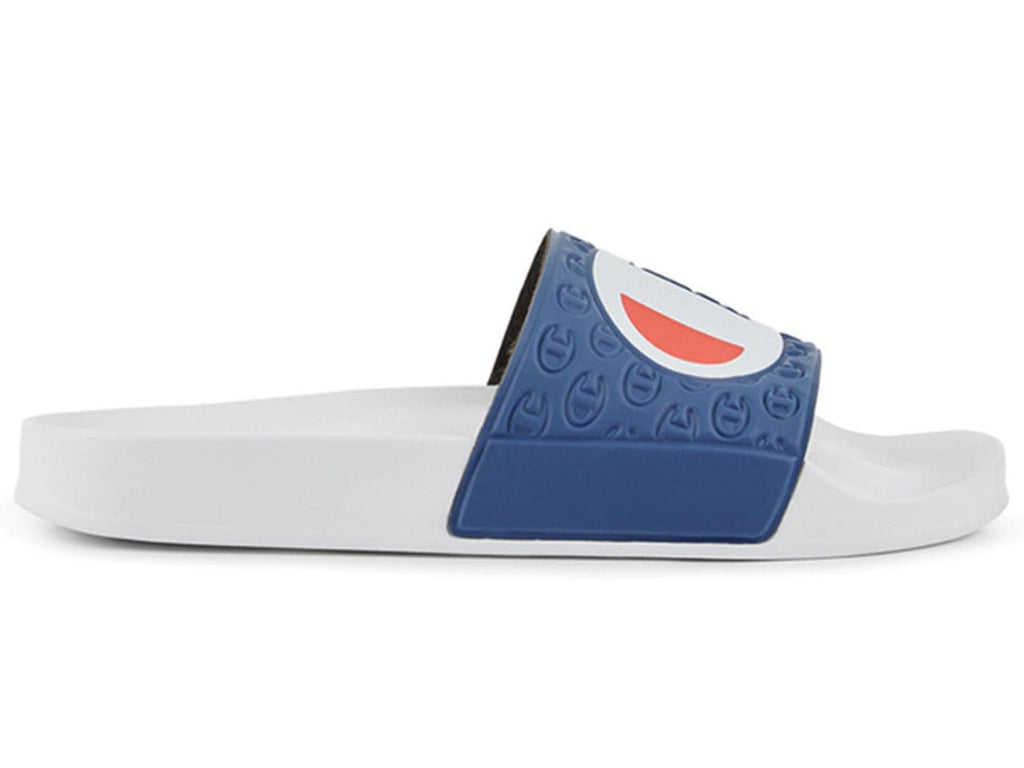 CHAMPION BIG C MULTI-LIDO SLIDE UNISEX <br> AXYGN WHIT/BLU