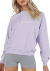 CHAMPION WOMENS FRENCH TERRY SCRIPT CREW <BR> CU7KN