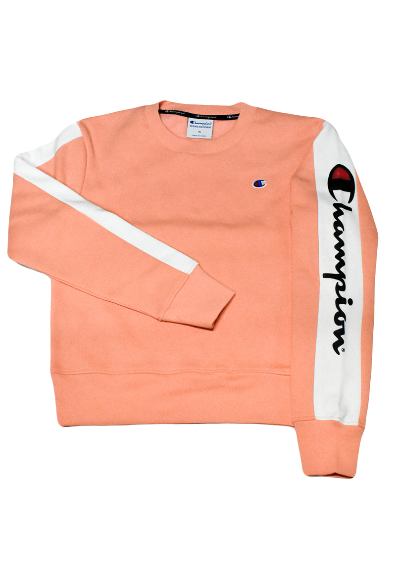 CHAMPION WOMENS SPORTY PANEL CREW  <BR> CUN6N