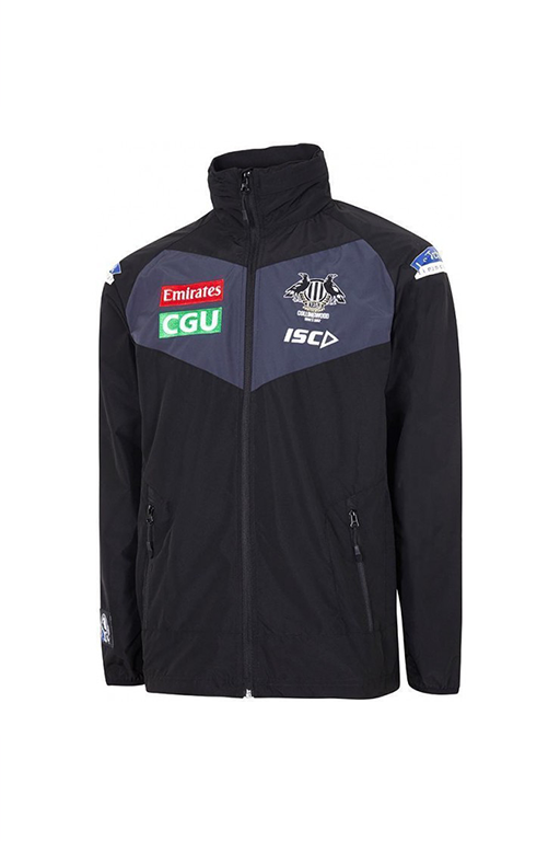 ISC COLLINGWOOD MAGPIES ADULTS 2017 WET WEATHER JACKET MENS <br> CW17WWJ1A,- Jim Kidd Sports