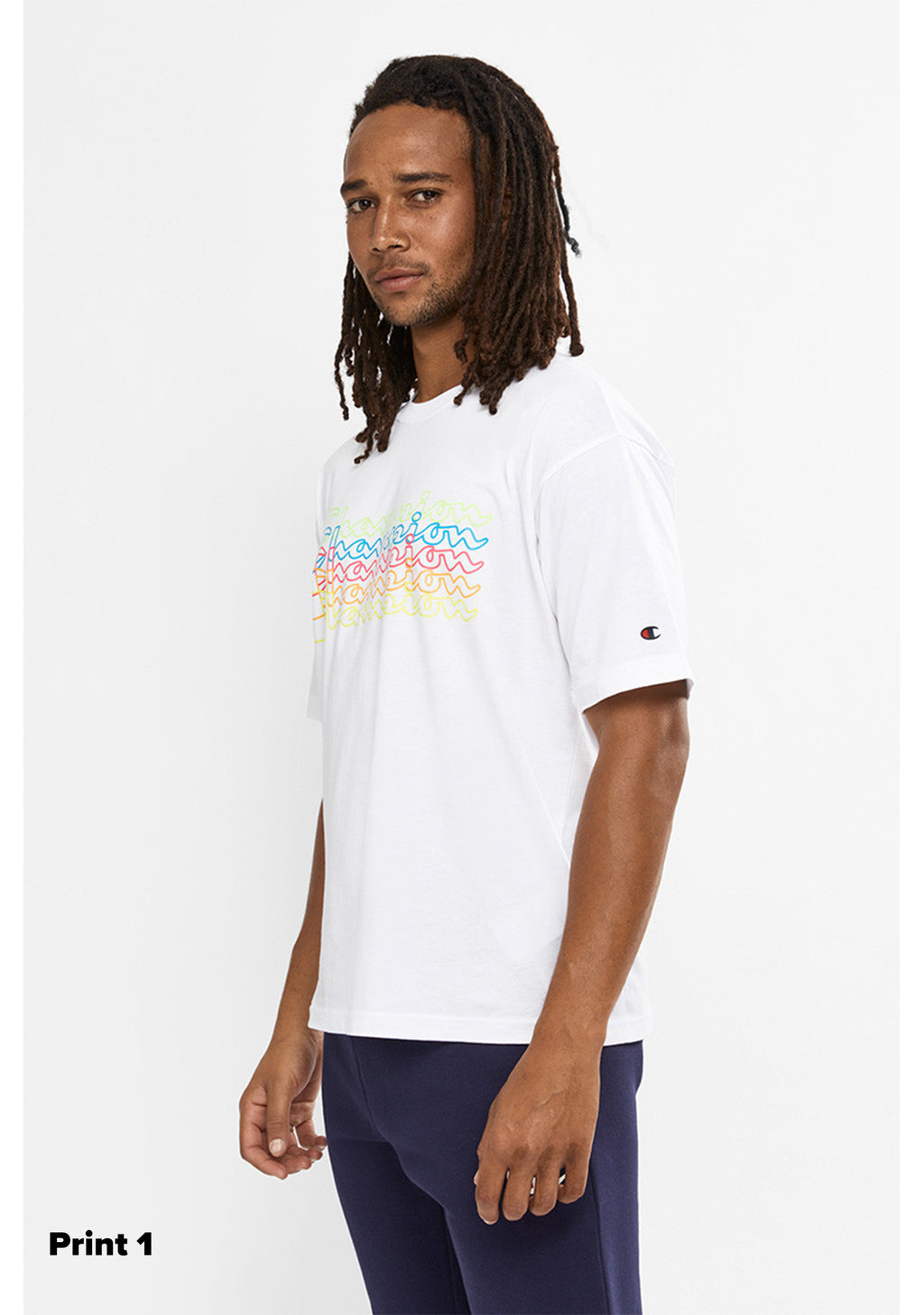CHAMPION MENS EU CHAMP FLURO TEE <BR> AWPTA1