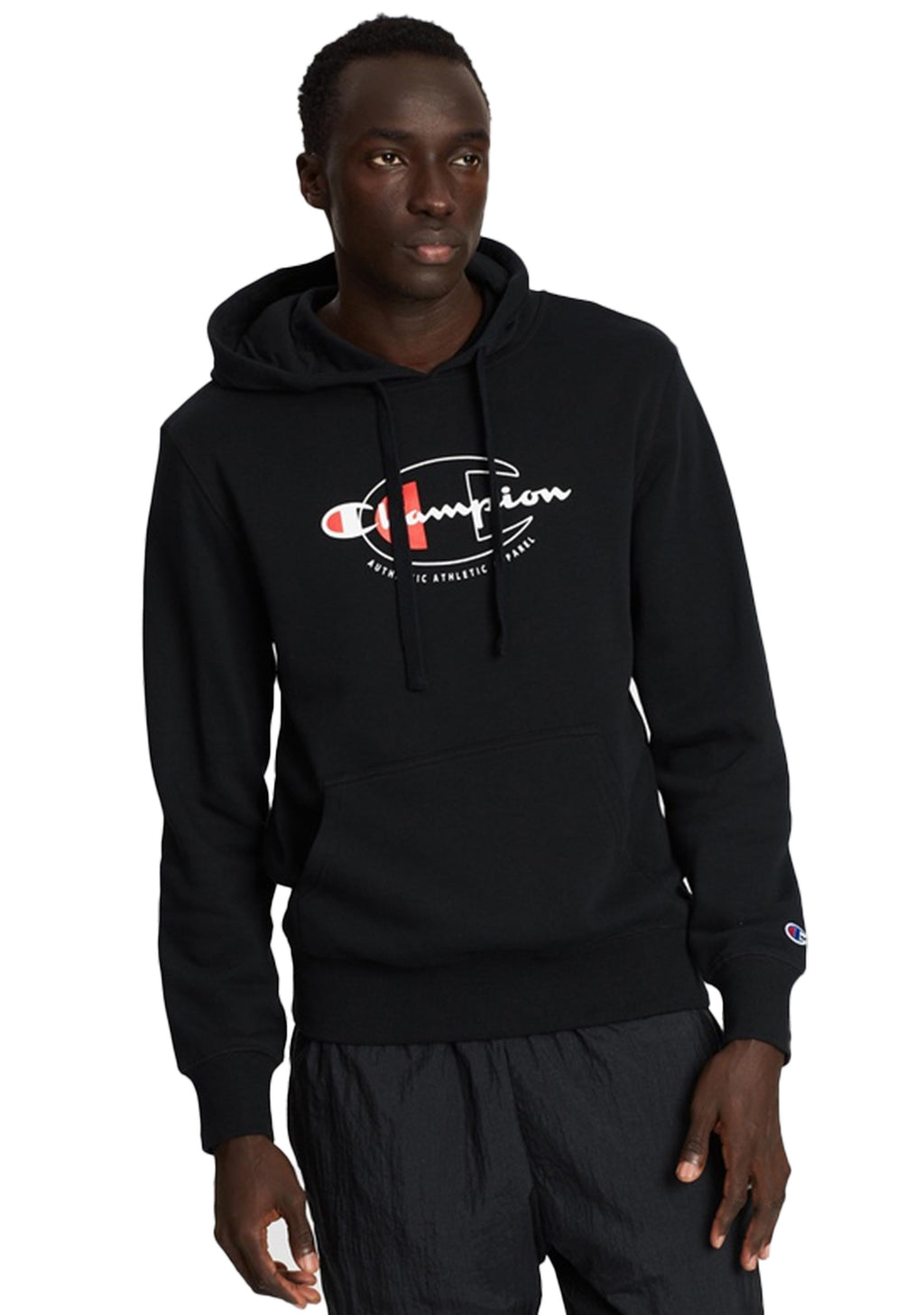 CHAMPION MENS SPORTY GRAPHIC HOODIE <BR> AXWPN