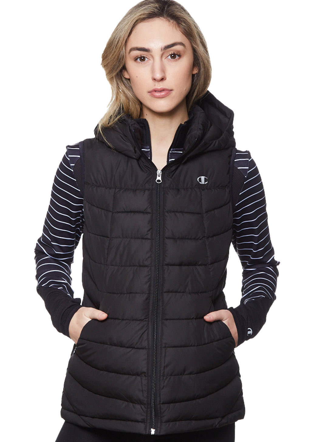 CHAMPION POWERTRAIN PUFFER VEST WOMENS <br> C1654H