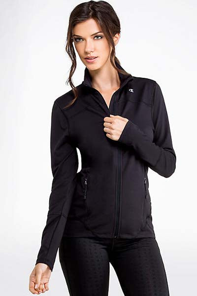 CHAMPION ABSOLUTE WORKOUT JACKET WOMENS BLACK <br> C1216H BLK