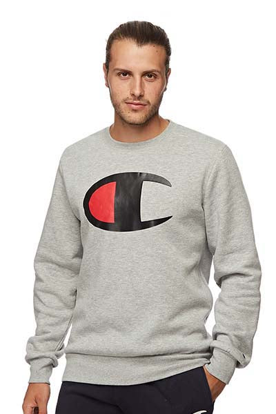CHAMPION BIG C CREW SWEAT MENS OXFORD HEATHER <br> AY4AN A3R