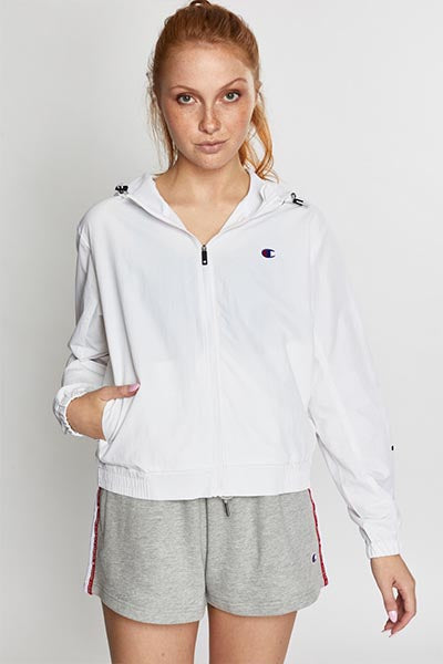 CHAMPION C ATHLETIC FULL ZIP JACKET WOMENS WHITE <br> CVQ8N WIT