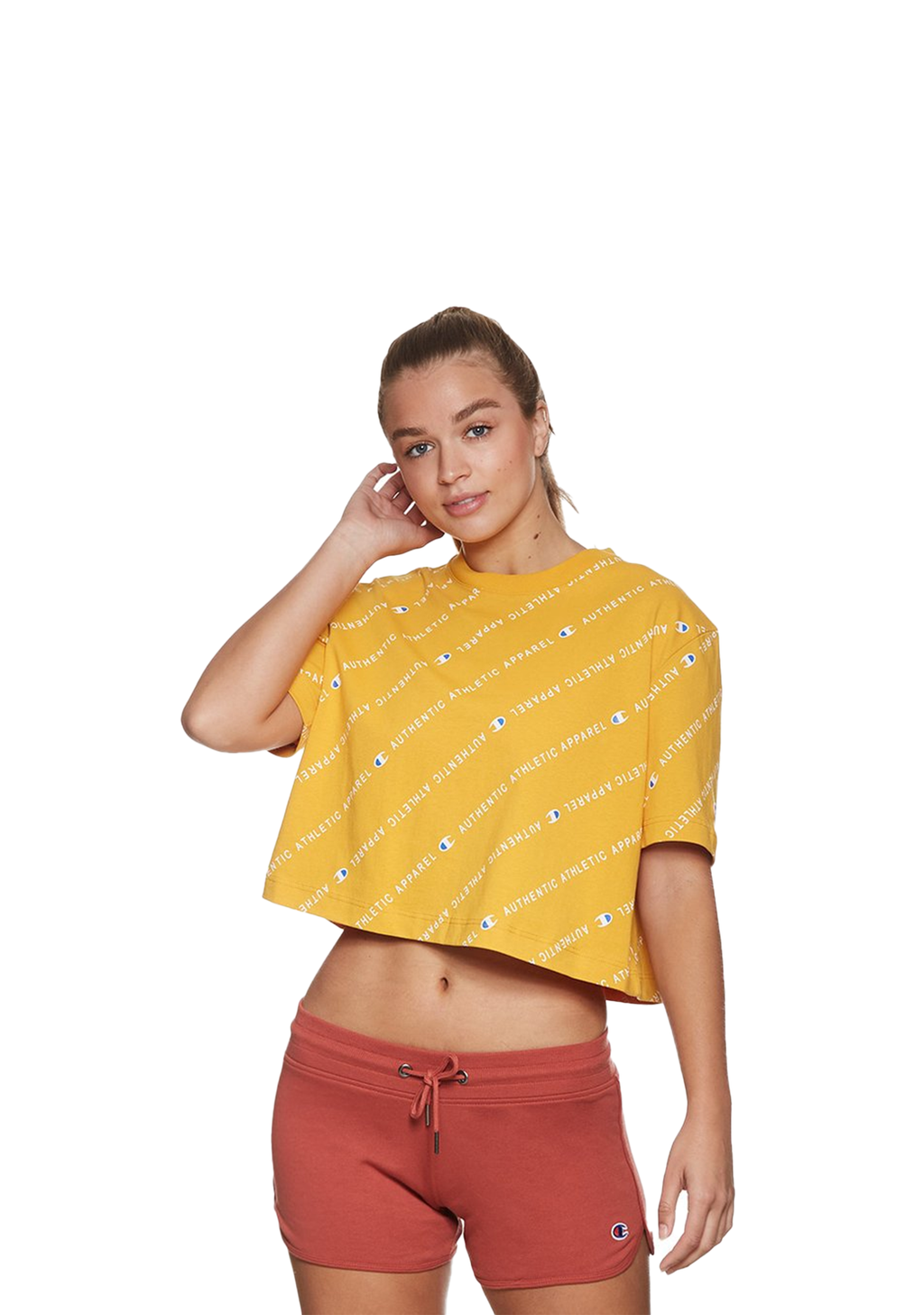 CHAMPION WOMENS ID COLLECTION ALL OVER GRAPHIC TEE <BR> CVQGN