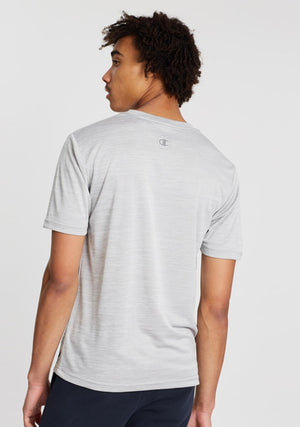 CHAMPION MENS CORE PERFORMANCE TEE GREY <BR> AX9GN 5TA