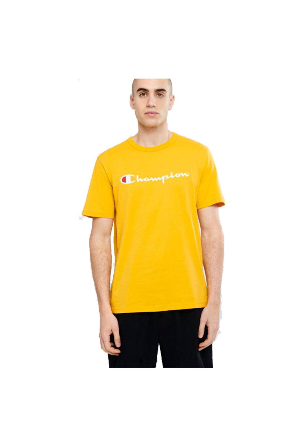 CHAMPION SCRIPT SHORT SLEEVE TEE MENS YELLOW <br> AXQPN EQD