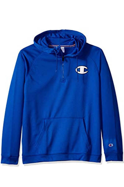 CHAMPION TEC FLEECE QUARTER ZIP HOODIE MENS <br> AXT9N XAN