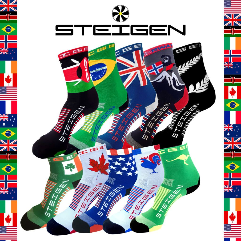STEIGEN Premium Running Socks - Assorted Length<br> Destination Pack