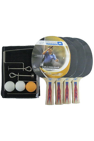 DONIC SCHILDKROT 200 4 PLAYER TABLE TENNIS SET <br> T3444405