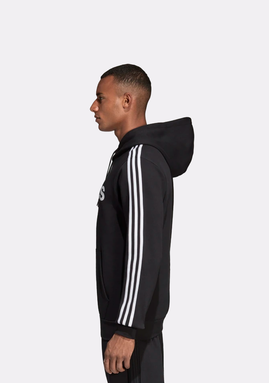 ADIDAS MENS 3 STRIPES PULLOVER HOODIE <BR> DQ3096