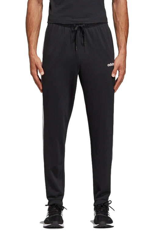 extremely unique great discount for select for authentic ADIDAS ESSENTIALS 3 STRIPES TAPERED PANTS MENS BLACK WITH FREE CHAMPION  NAVY SLIDES DQ3078