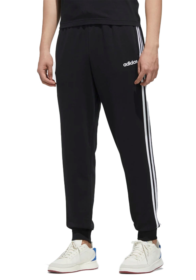 ADIDAS MENS ESSENTIAL 3 STRIPES TAPERED CUFFED PANTS <BR> DU0468