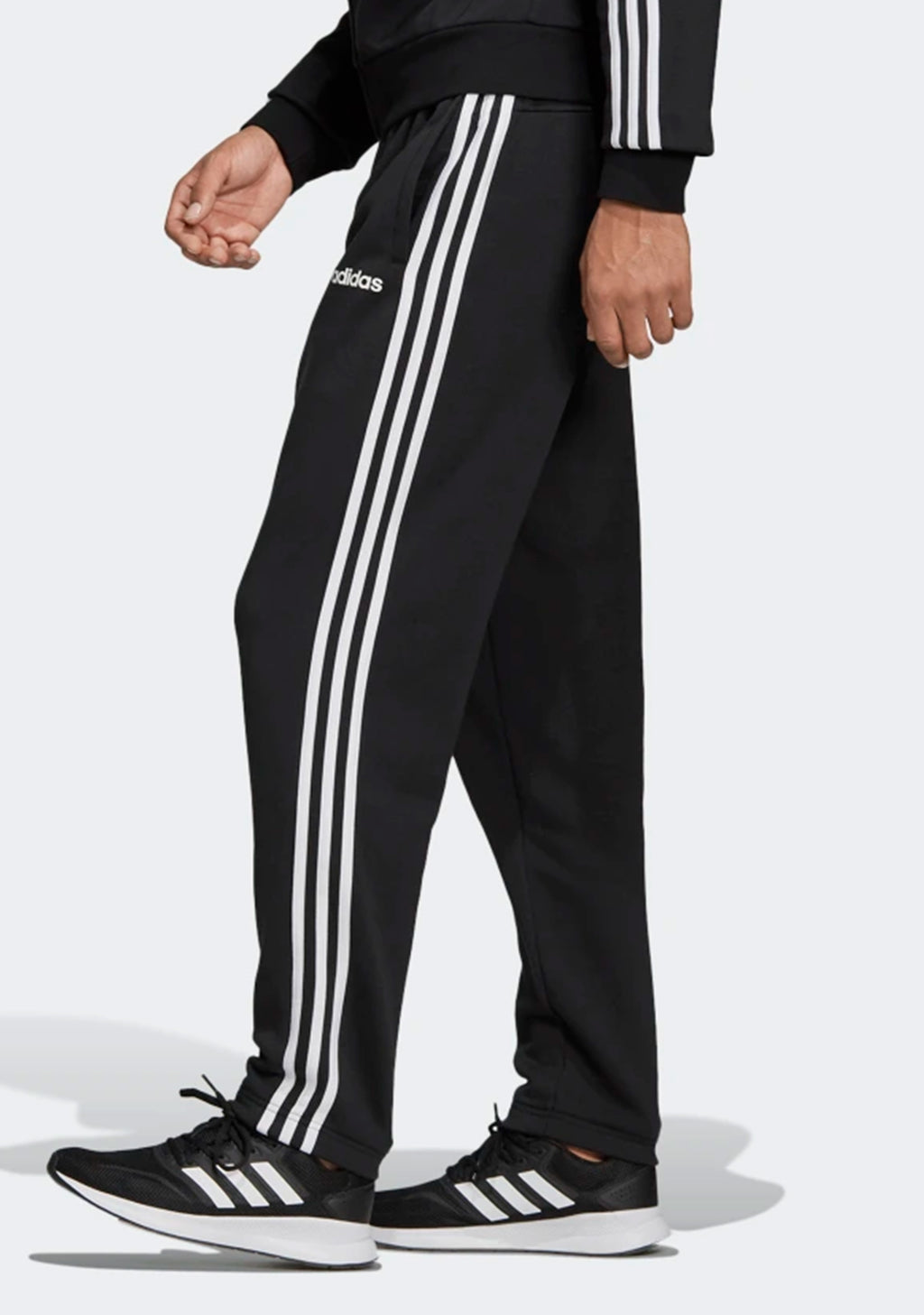 ADIDAS MENS ESSENTIAL 3 STRIPES TAPERED CUFFED FLEECE PANTS <BR> DQ3093