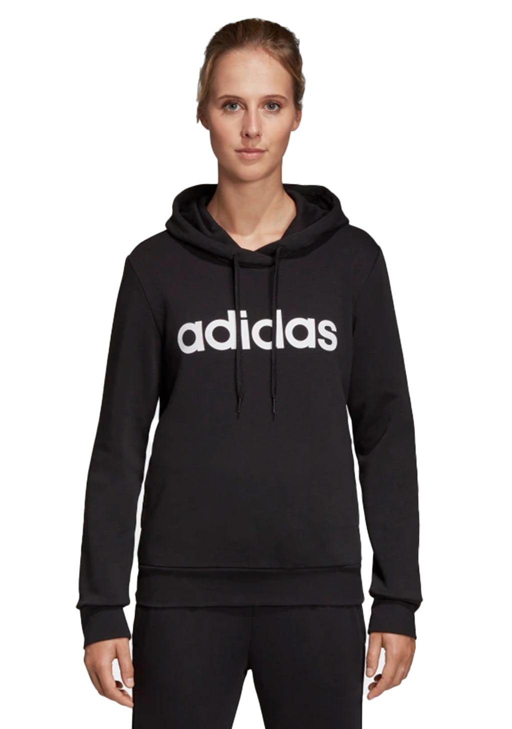 ADIDAS ESSENTIAL LINEAR PULLOVER HOODIE WOMENS <br> DP2364