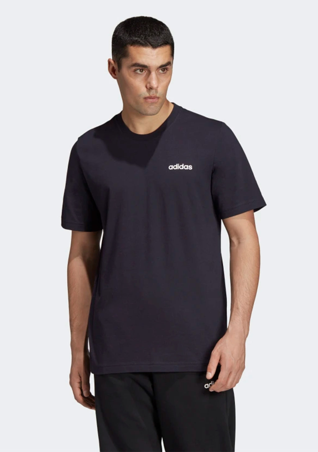 ADIDAS MENS ESSENTIALS PLAIN TEE BLACK <br> DU0367