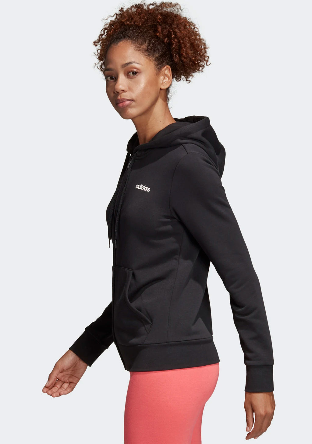 ADIDAS WOMENS ESSENTIALS LINEAR HOODIE <BR> DP2414