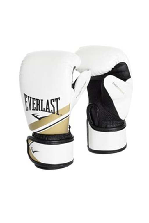 EVERLAST ADVANCED STRIKE TRAINING GLOVE <br> 141020 WHT/GLD/BLK